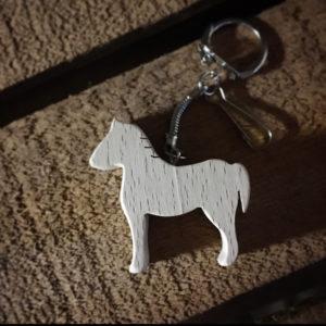 porte-clés cheval en hêtre massif
